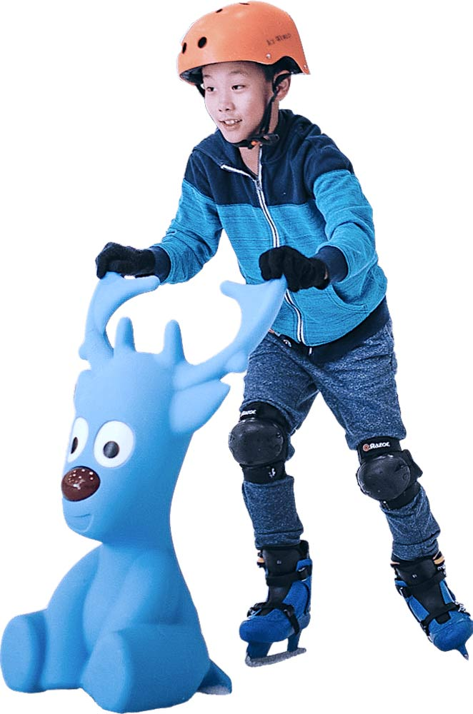 ice-america-Bobby-the-seal-and-Tommy-the-reindeer-safe-skating-aid