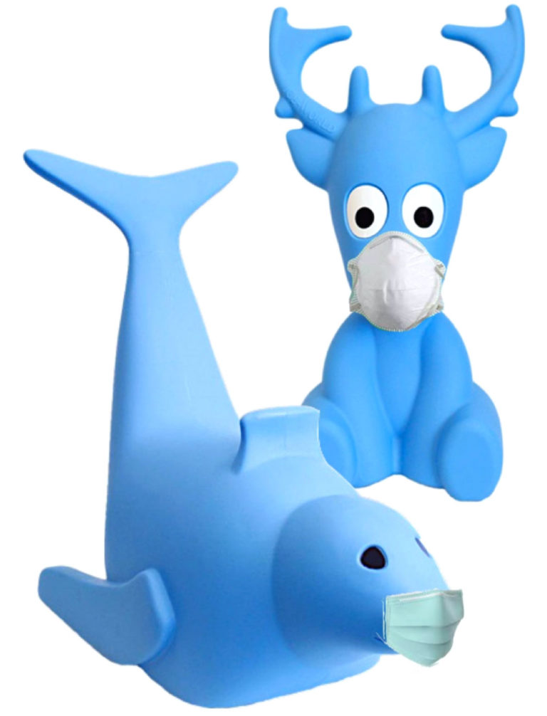 ice-america-Bobby-the-seal-and-Tommy-the-reindeer-safe-skating-aids-with-face-masks